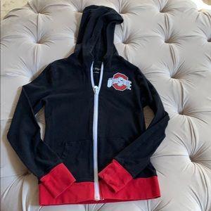 Ohio state Girls zip up lightweight hoodie